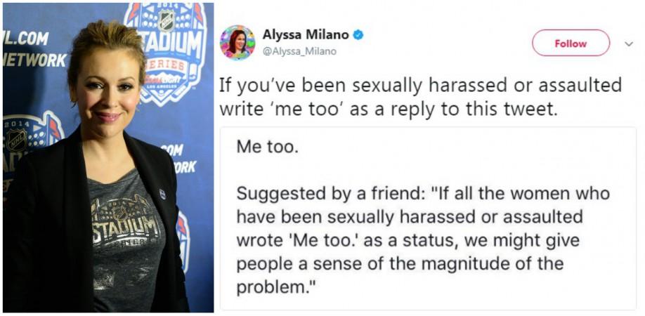 Tweet da atriz Alyssa Milano