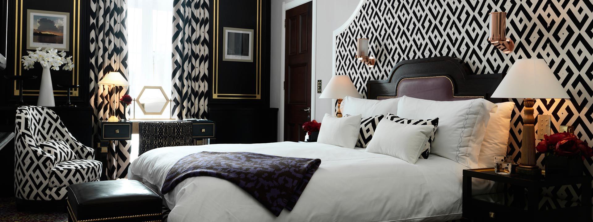 Quarto da suite Grand Piano em hotel de luxo