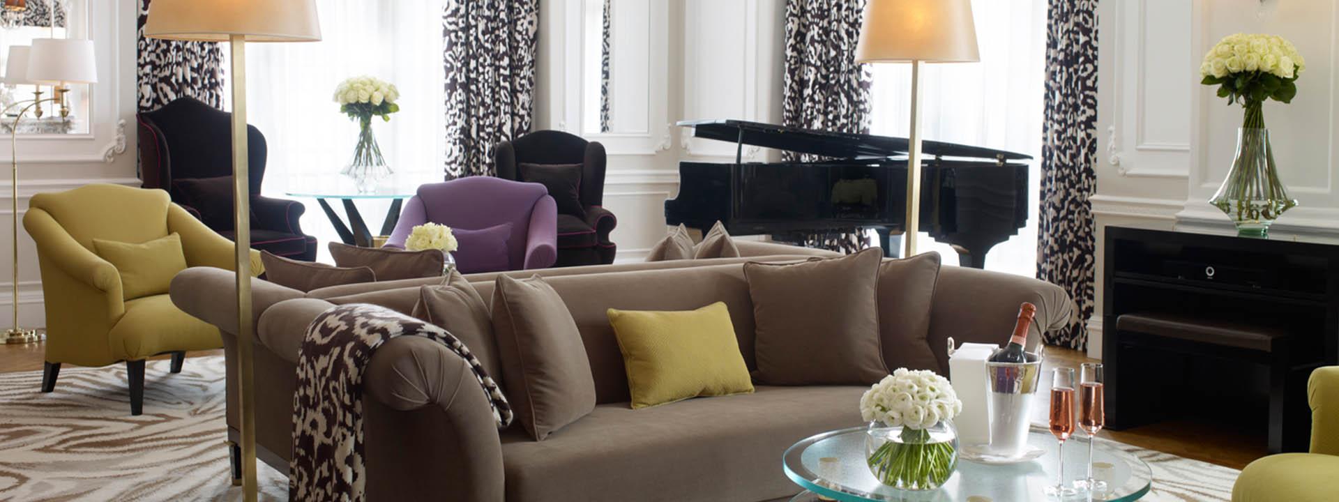 Suite Grand Piano da Dior em hotel de luxo