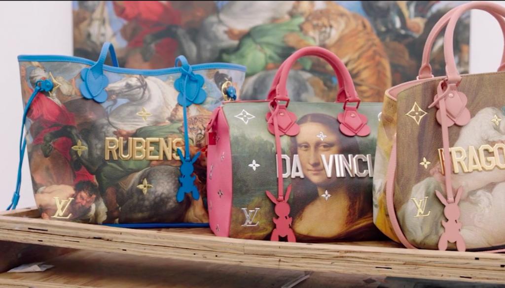Moda e arte: bolsas da coleção Masters, colaboração entre Jeff Koons e Louis Vuitton