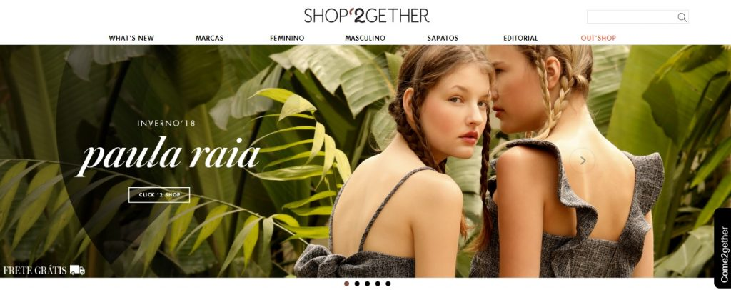 Home do site da Shop2gether