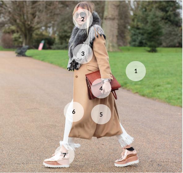 Imagem de mulher andando na rua com marcas que serão analisadas com inteligência artificial