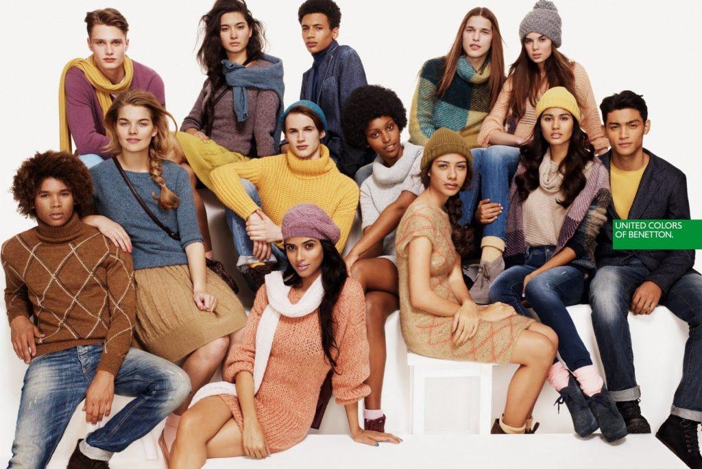 Modelos de diferentes etnias mostram diversidade nas campanhas da Benetton
